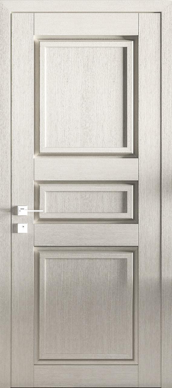 Двері ATLANTIC A004. Полотно+коробка+2 до-та лиштв+добір 77мм, зрощений брус сосни, еко-шпон