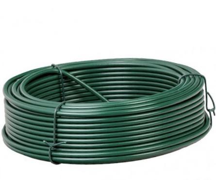 Проволока вязальная для сетки рабица зелёная Ø 3,5 мм моток 100 м