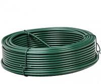 Проволока вязальная для сетки рабица зелёная Ø 3,5 мм моток 100 м, фото 1