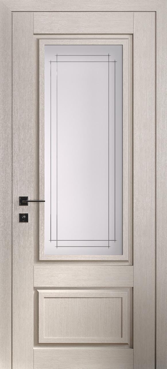 Двері ATLANTIC A005. Полотно, зрощений брус сосни, еко-шпон
