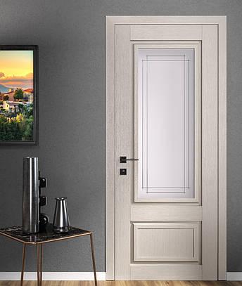 Двері ATLANTIC A005. Полотно, зрощений брус сосни, еко-шпон, фото 2