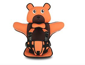 Дитяче Безкаркасне Автокрісло у формі Ведмедика (Колір Оранжевий)