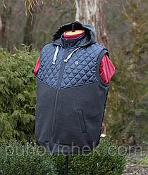 Модные мужские жилетки с капюшоном большого размера 56-66