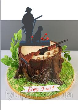 Топпер для торта  охотнику  (выс.15 см)