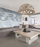 Дизайнерское панно в стиле современного минимализма в интерьере гостиной Оникс комб  430 см х 350 см