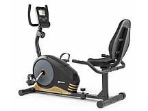 Горизонтальний велотренажер для дома Hop-Sport HS-040L Root чорно-золотистий - model 2020