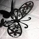 Набор милых 3д бабочек Квитка, объемные бабочки из картона на скотче, метелики 3d, фото 4