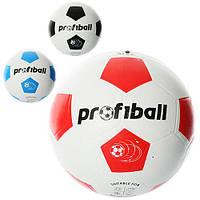 Мяч футбольный VA 0014 размер 5, резина, гладкий, 400г, Profiball, сетка, в кульке, 3цвета