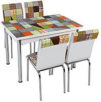 Металлический кухонный комплект с раскладным столом и стульями (134)