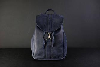 Рюкзак на затяжках с карабином, размер большой Винтажная кожа цвет Синий