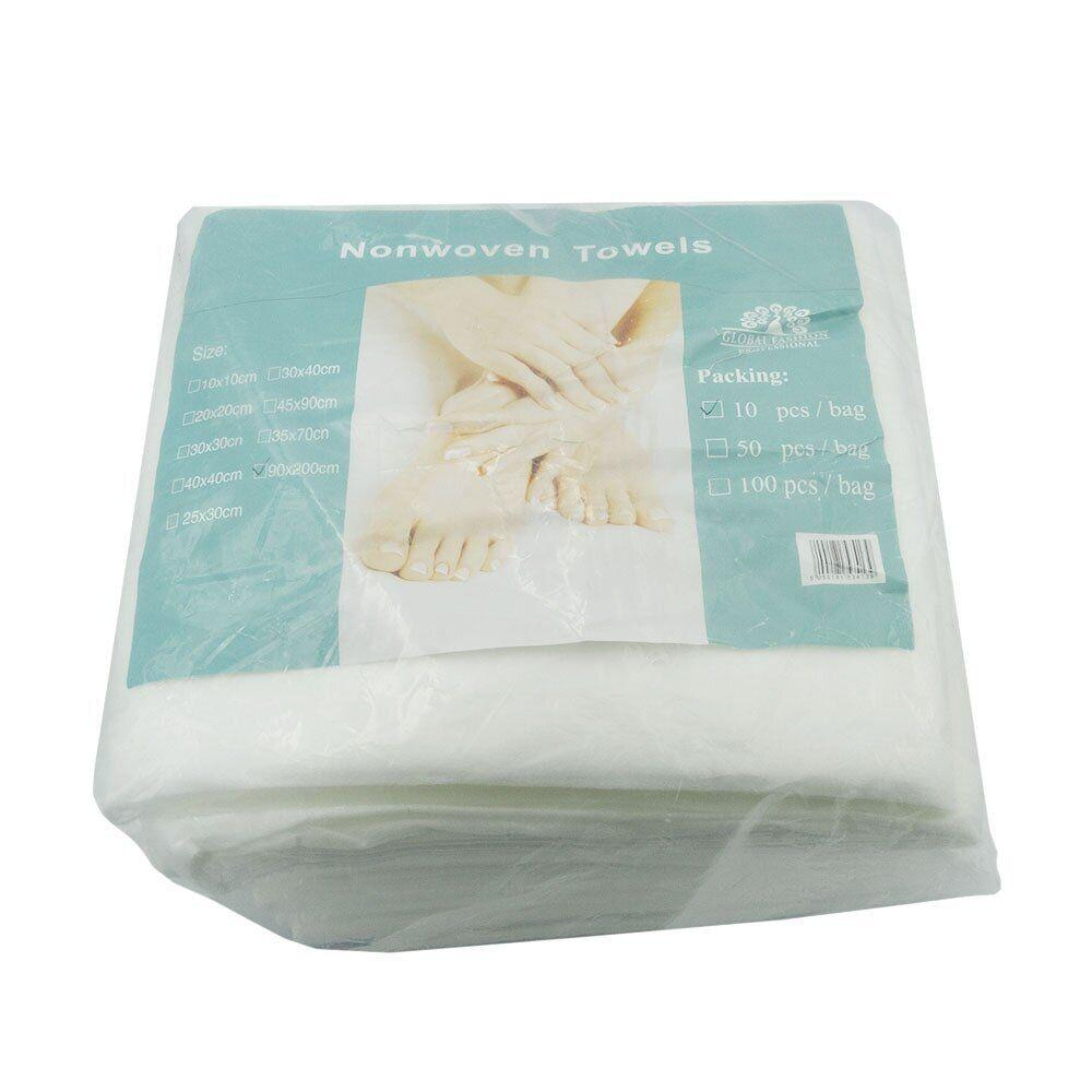 Одноразовые полотенца Global Fashion гладкие 90х200 см, 10 шт