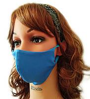 Многоразовая Маска для лица защитная Silenta (маска на лицо), Синяя, фото 1