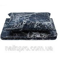 Підлокітник з килимком для манікюру, чорний мармуровий