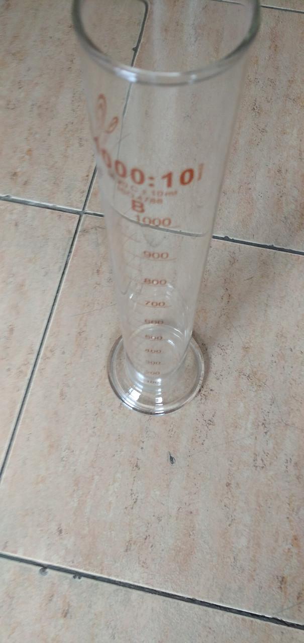 Цилиндр  1000мл мерный, 1-1000-2,возможна калибровка в УкрЦСМ