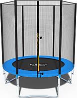 Высококачественный 183 см батут спортивный игровой FunFit с сеткой для детей и взрослых зеленый