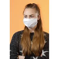 Многоразовая белая женская защитная маска