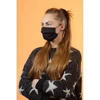 Многоразовая черная женская защитная маска