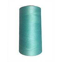 Нить швейная 100% PE 50/2 цв S-385 бирюзовый светлый (боб 4000ярдов)