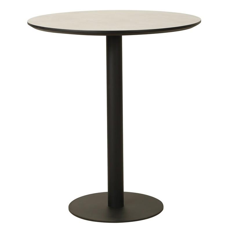 Барный стол ВТ-01 МДФ цвета бетон D80*95(H) от Vetro Mebel