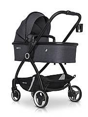 Детская коляска универсальная 2 в 1 Euro-Cart Crox Coal (Евро-Карт Крокс, Польша)