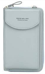 Женский кошелек портмоне клатч 3-в-1 Baellerry N8591 Grey