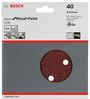 Bosch Шлифлист, в упаковке 5 шт. 150 mm, 40, фото 1