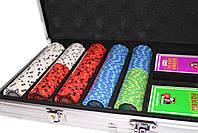 """Набор для игры в покер """"Havana 500"""" с композитными фишками, фото 2"""