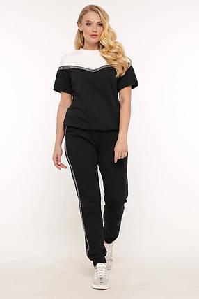Летний женский костюм футболка и штаны большого размера 50-58, фото 2