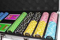 """Набор для игры в покер """"Havana 500"""" с композитными фишками, фото 5"""