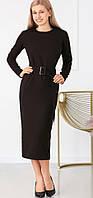 Офисное платье черное