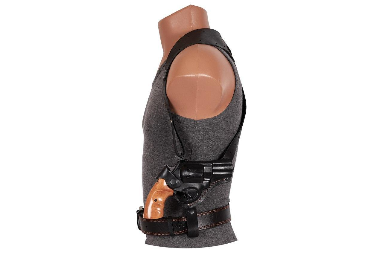 Кобура Револьвер 3 оперативная формованная (кожа, чёрная)