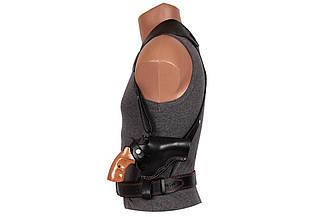 Кобура Револьвер 3 оперативная не формованная (кожа, чёрная)