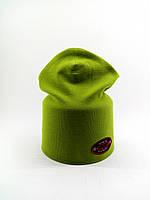 Детская шапка с 48 по 54 размер трикотажная двойная детские шапки демисезонные