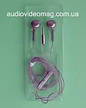 Гарнітура (навушники з мікрофоном) X3 для смартфонів, колір - рожевий, фото 2