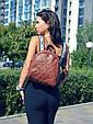 """Рюкзак """"Stefany"""" 12 коричневого кольору з вишивкою, фото 2"""