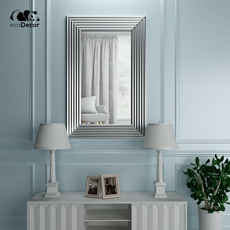 Зеркало в прихожую серебряное Alanno