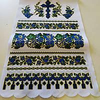 Рушник с крестом Орнамент синий, фото 1