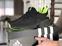 Кроссовки Adidas, черно с зеленым