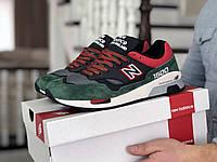 Кроссовки New Balance 1500, черные с зеленым и красным