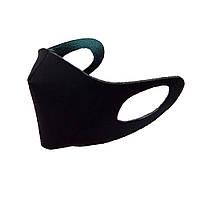 Маска защитная многоразовая трехслойная противовирусная для лица  черная (маска-питта)