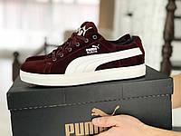 Мужские замшевые кроссовки Puma Suede, красные