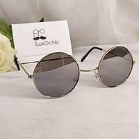 Подростковые солнцезащитные круглые очки Giovanni Bros в металлической оправе