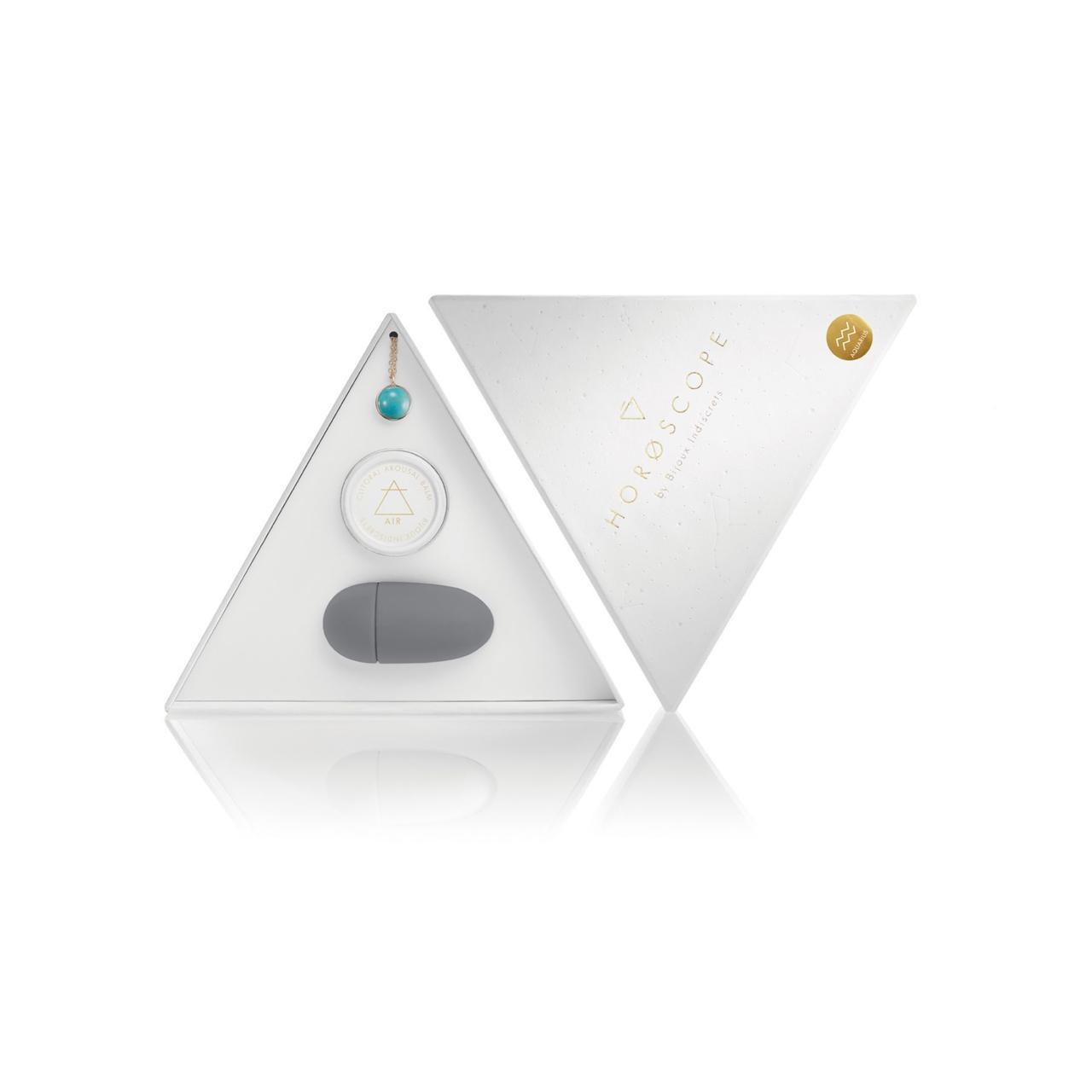 Набор Bijoux Indiscrets HOROSCOPE - Aquarius (Водолей) вибратор на палец, гель для клитора, подвеска