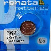 Батарейка для часов. Renata SR721SW (362) 1.55v 24mAh 7,9x2.1mm.Серебрянно-цинковая, фото 1
