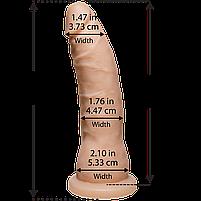 Фаллоимитатор Doc Johnson Platinum TRUSKYN - The Tru Ride Slim 7 Inch, диаметр 4,4см, двухслойный, фото 2