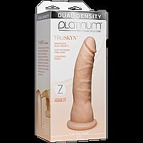 Фаллоимитатор Doc Johnson Platinum TRUSKYN - The Tru Ride Slim 7 Inch, диаметр 4,4см, двухслойный, фото 3