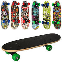 Скейт MS 2972 54-15,5см,пласт.подвеска,колесаПВХ 50-30мм,подшABEC-5,рисунок,разобр,6вид