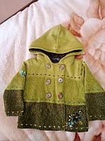 Весеннее вязанное короткое пальто с капюшоном next для девочки
