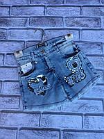 Стильні джинсові шорти на дівчинку 8-12 років