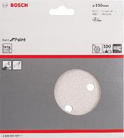 Bosch Набор из 5 шлифлистов  диаметр 150 mm, Р100, фото 1